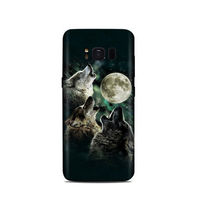 Samsung Galaxy S8 Skin - Three Wolf Moon