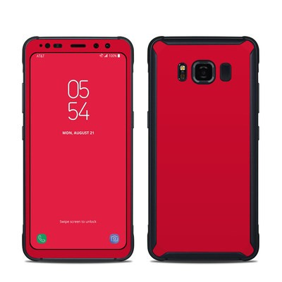 Samsung Galaxy S8 Active Skin - Solid State Red