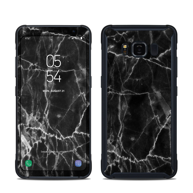 Samsung Galaxy S8 Active Skin - Black Marble by Marble ...