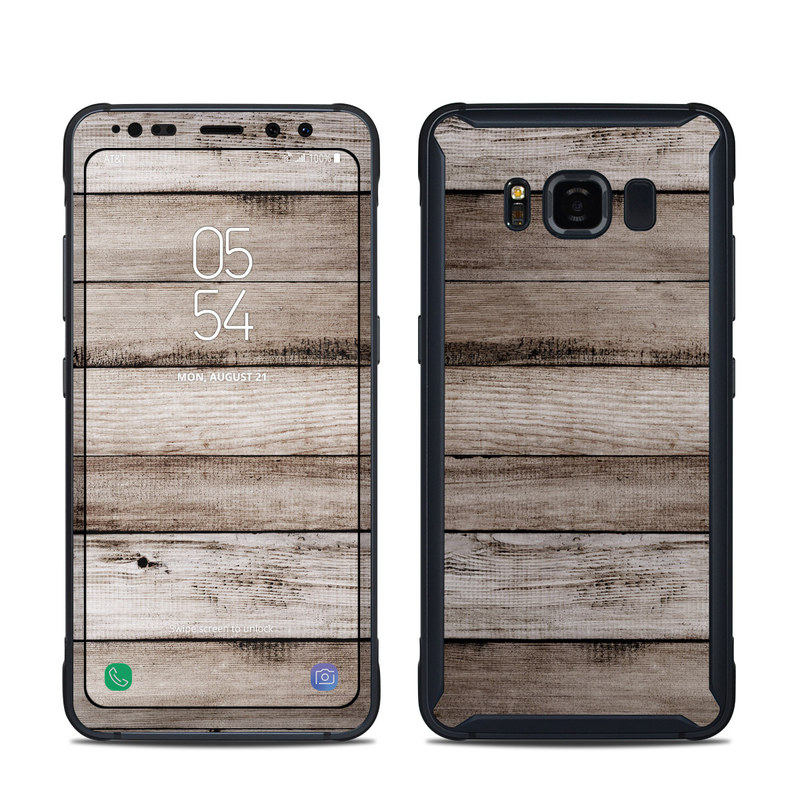 outlet store 7eee1 97fd5 Samsung Galaxy S8 Active Skin - Barn Wood