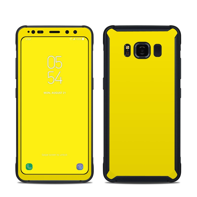 new styles 790cd a7615 Samsung Galaxy S8 Active Skin - Solid State Yellow
