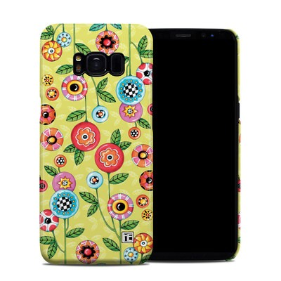 Samsung Galaxy S8 Clip Case - Button Flowers