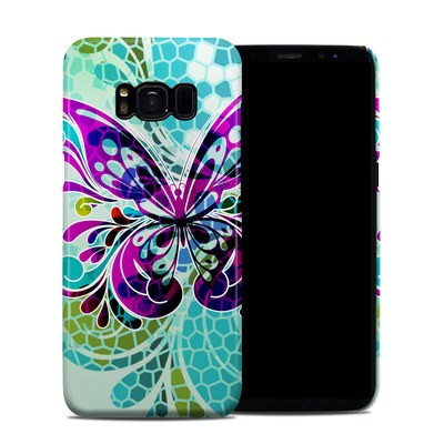 Samsung Galaxy S8 Clip Case - Butterfly Glass