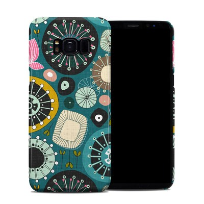 Samsung Galaxy S8 Clip Case - Blooms Teal