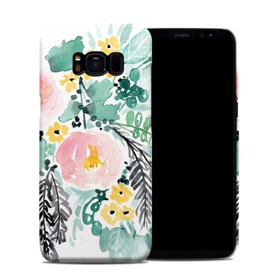 Samsung Galaxy S8 Clip Case - Blushed Flowers