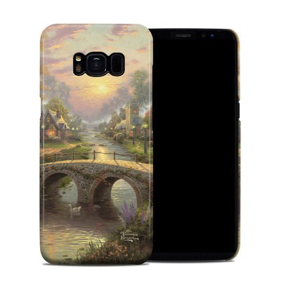 Samsung Galaxy S8 Clip Case - Sunset On Lamplight Lane