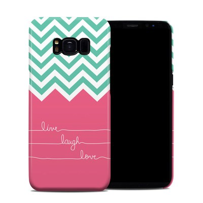 Samsung Galaxy S8 Clip Case - Live Laugh Love