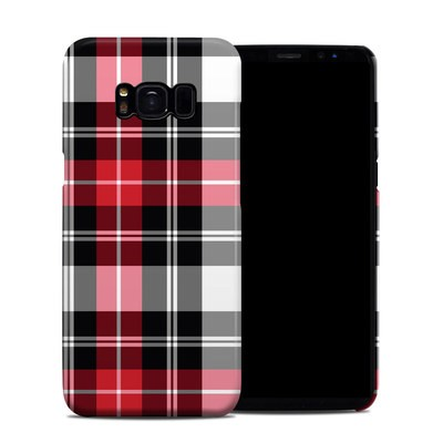 Samsung Galaxy S8 Clip Case - Red Plaid