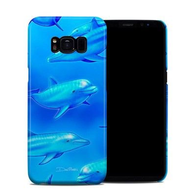 Samsung Galaxy S8 Clip Case - Swimming Dolphins