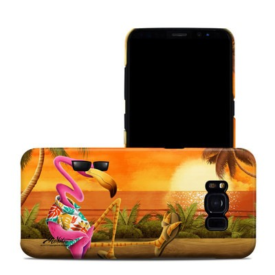 Samsung Galaxy S8 Clip Case - Sunset Flamingo