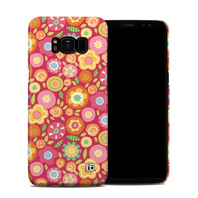 Samsung Galaxy S8 Clip Case - Flowers Squished