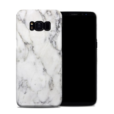 Samsung Galaxy S8 Clip Case - White Marble