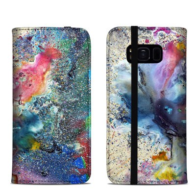 Samsung Galaxy S8 Folio Case - Cosmic Flower