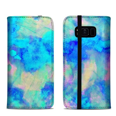 Samsung Galaxy S8 Folio Case - Electrify Ice Blue