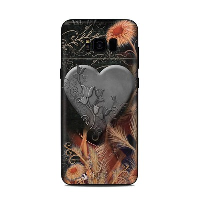 Samsung Galaxy S8 Plus Skin - Black Lace Flower
