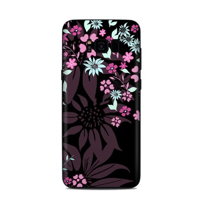 Samsung Galaxy S8 Plus Skin - Dark Flowers