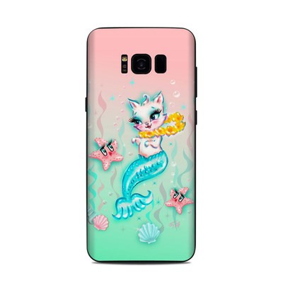 Samsung Galaxy S8 Plus Skin - Merkitten with Lei