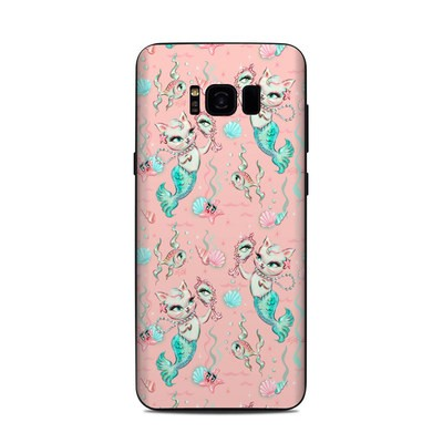Samsung Galaxy S8 Plus Skin - Merkittens with Pearls Blush