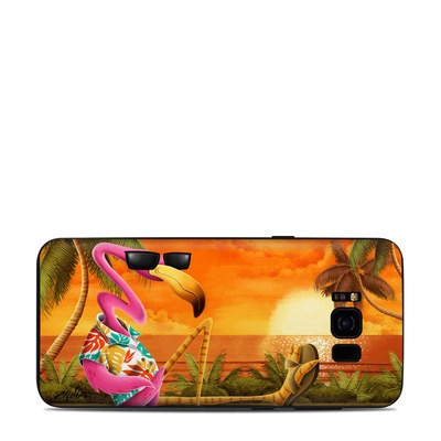 Samsung Galaxy S8 Plus Skin - Sunset Flamingo