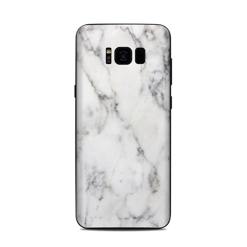 finest selection 7b852 91637 Samsung Galaxy S8 Plus Skin - White Marble