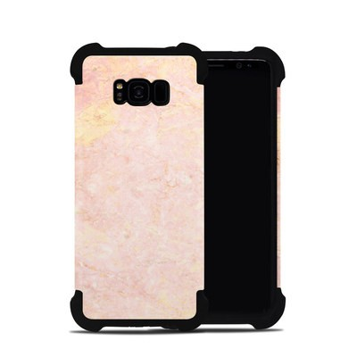 Samsung Galaxy S8 Plus Bumper Case - Rose Gold Marble