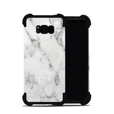 Samsung Galaxy S8 Plus Bumper Case - White Marble