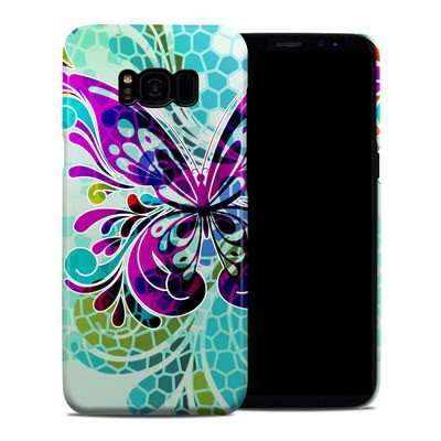 Samsung Galaxy S8 Plus Clip Case - Butterfly Glass