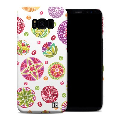 Samsung Galaxy S8 Plus Clip Case - Round Flowers