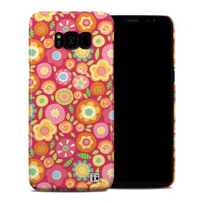 Samsung Galaxy S8 Plus Clip Case - Flowers Squished