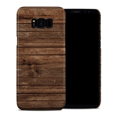 Samsung Galaxy S8 Plus Clip Case - Stripped Wood