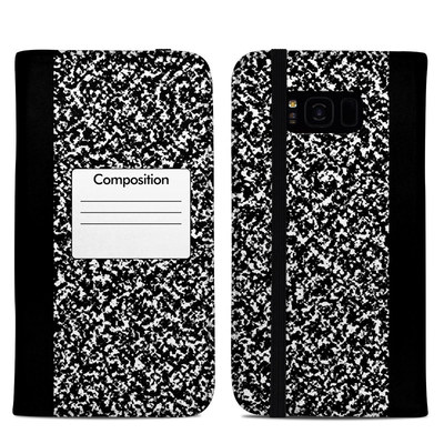 Samsung Galaxy S8 Plus Folio Case - Composition Notebook