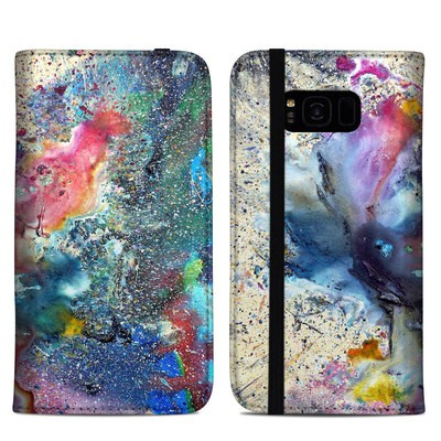 Samsung Galaxy S8 Plus Folio Case - Cosmic Flower