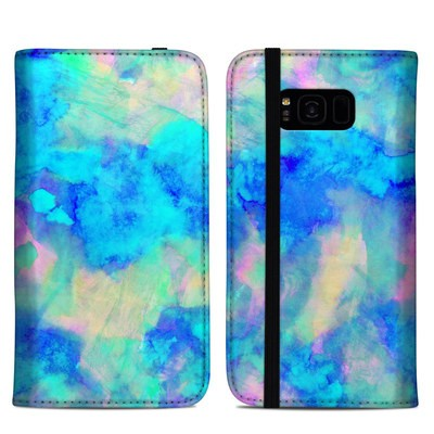 Samsung Galaxy S8 Plus Folio Case - Electrify Ice Blue