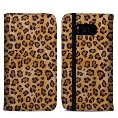 Samsung Galaxy S8 Plus Folio Case - Leopard Spots