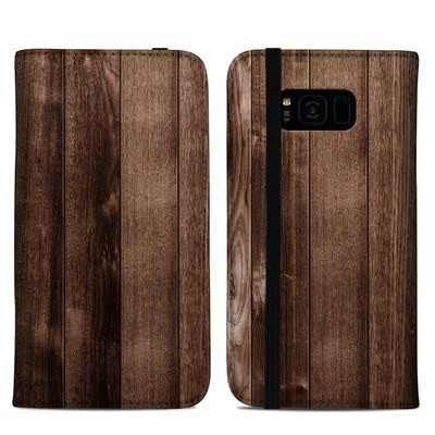 Samsung Galaxy S8 Plus Folio Case - Stained Wood