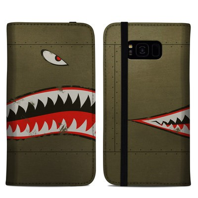 Samsung Galaxy S8 Plus Folio Case - USAF Shark