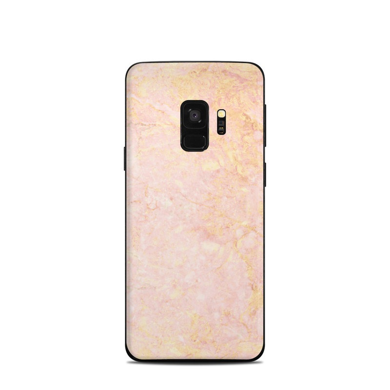 low cost 11e99 aa917 Samsung Galaxy S9 Skin - Rose Gold Marble