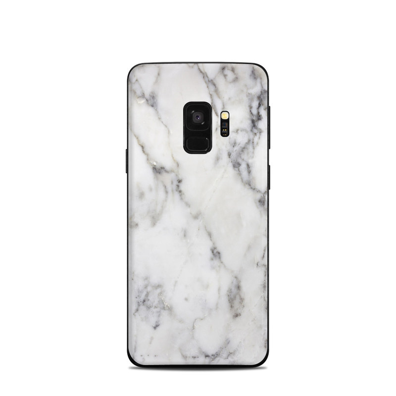 Samsung Galaxy S9 Skin White Marble By Marble Collection