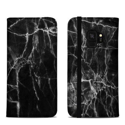 Samsung Galaxy S9 Folio Case - Black Marble