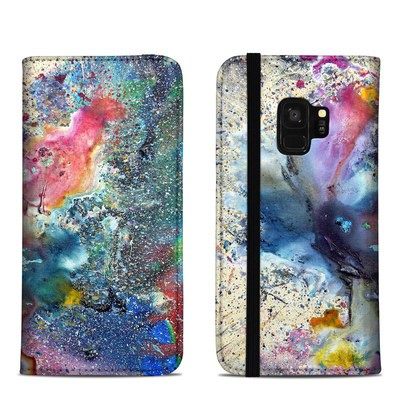 Samsung Galaxy S9 Folio Case - Cosmic Flower