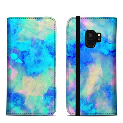 Samsung Galaxy S9 Folio Case - Electrify Ice Blue