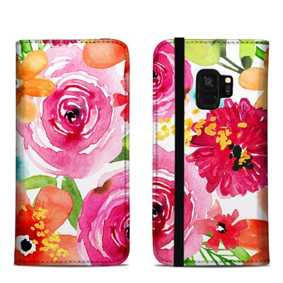 Samsung Galaxy S9 Folio Case - Floral Pop