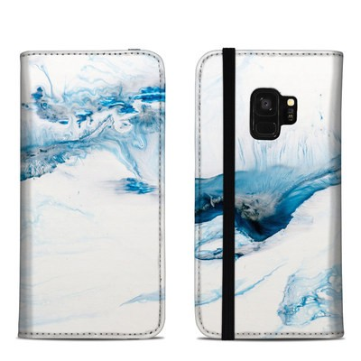 Samsung Galaxy S9 Folio Case - Polar Marble