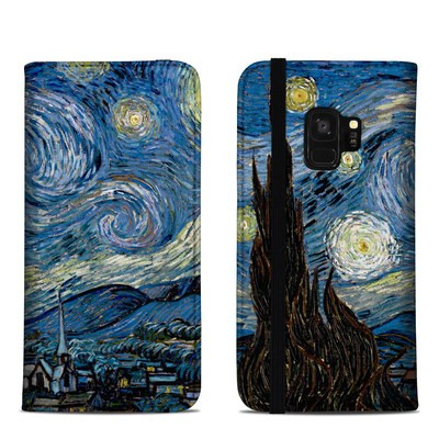Samsung Galaxy S9 Folio Case - Starry Night