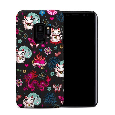 Samsung Galaxy S9 Hybrid Case - Geisha Kitty