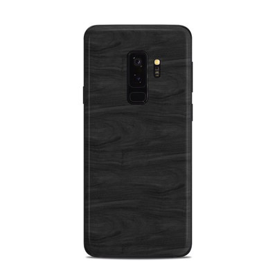 Samsung Galaxy S9 Plus Skin - Black Woodgrain