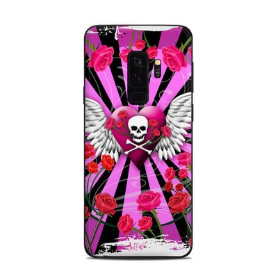Samsung Galaxy S9 Plus Skin - Skull & Roses Pink