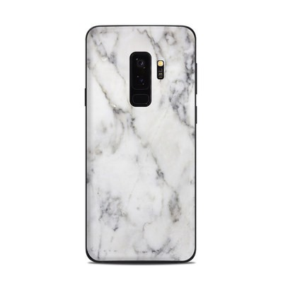 Samsung Galaxy S9 Plus Skin - White Marble