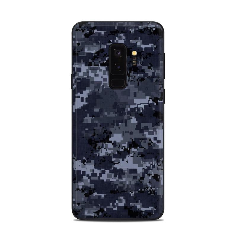 buy popular 6aacd 88510 Samsung Galaxy S9 Plus Skin - Digital Navy Camo