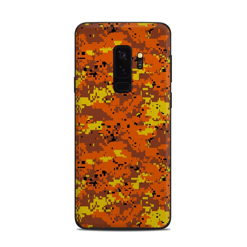 check out c7651 15fa4 Samsung Galaxy S9 Plus Skin - Digital Orange Camo